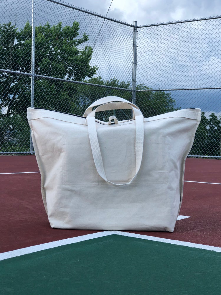 Image of Raw Canvas Quilted Oversized Tote