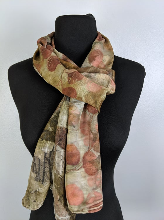 Image of Dark Eucalyptus Dyed Scarf