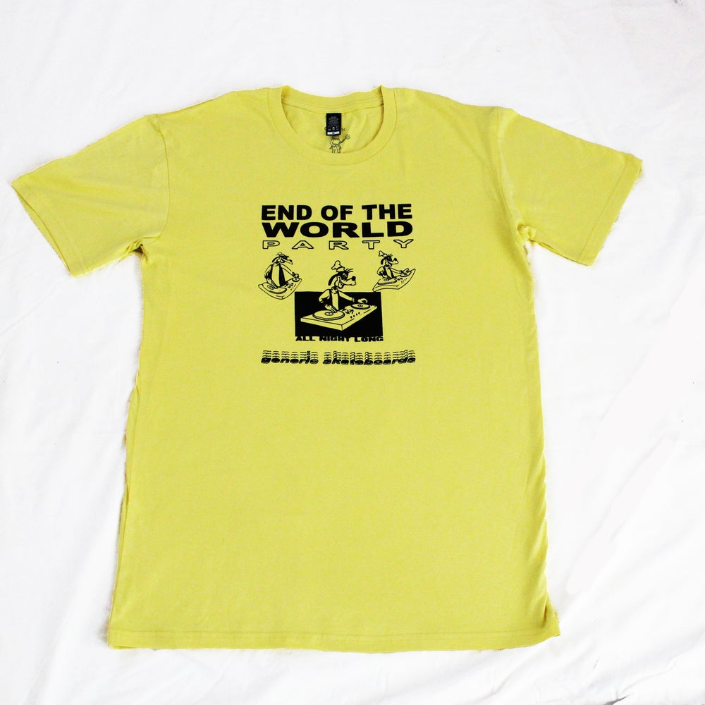 Image of End Of World Tee Yellow
