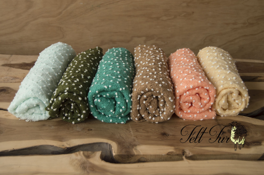 Image of END OF LINE Sale Newborn stretch wrap photo prop, bubbles stretch wrap prop, rts
