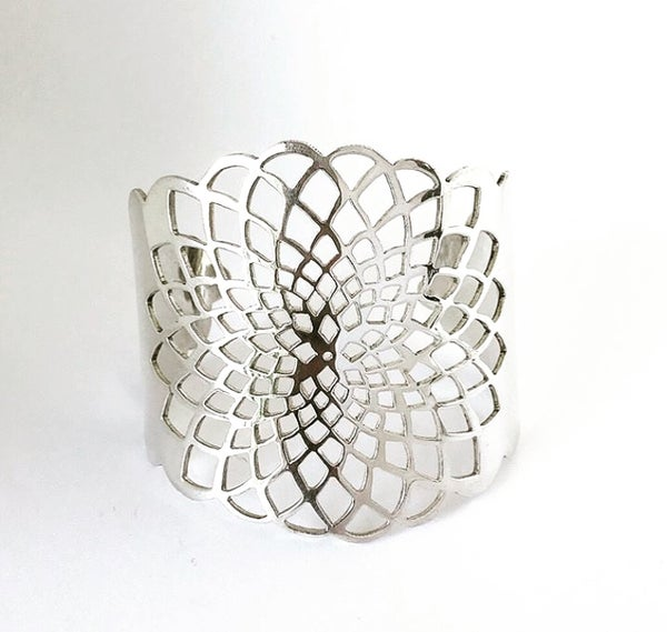 Image of Dahlia Cuff - Sterling Silver