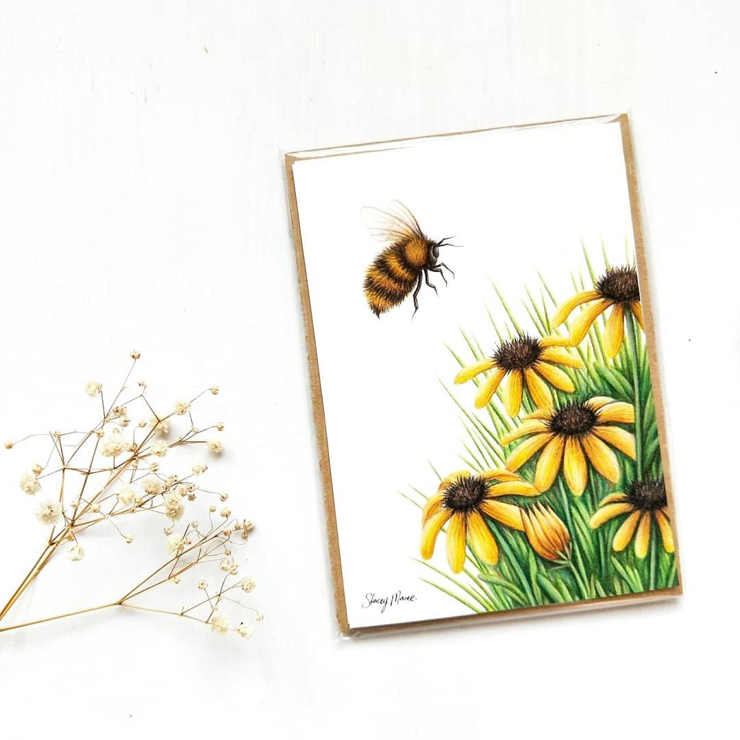 Image of Bumble Bee - FINE ART GICLÉE PRINT