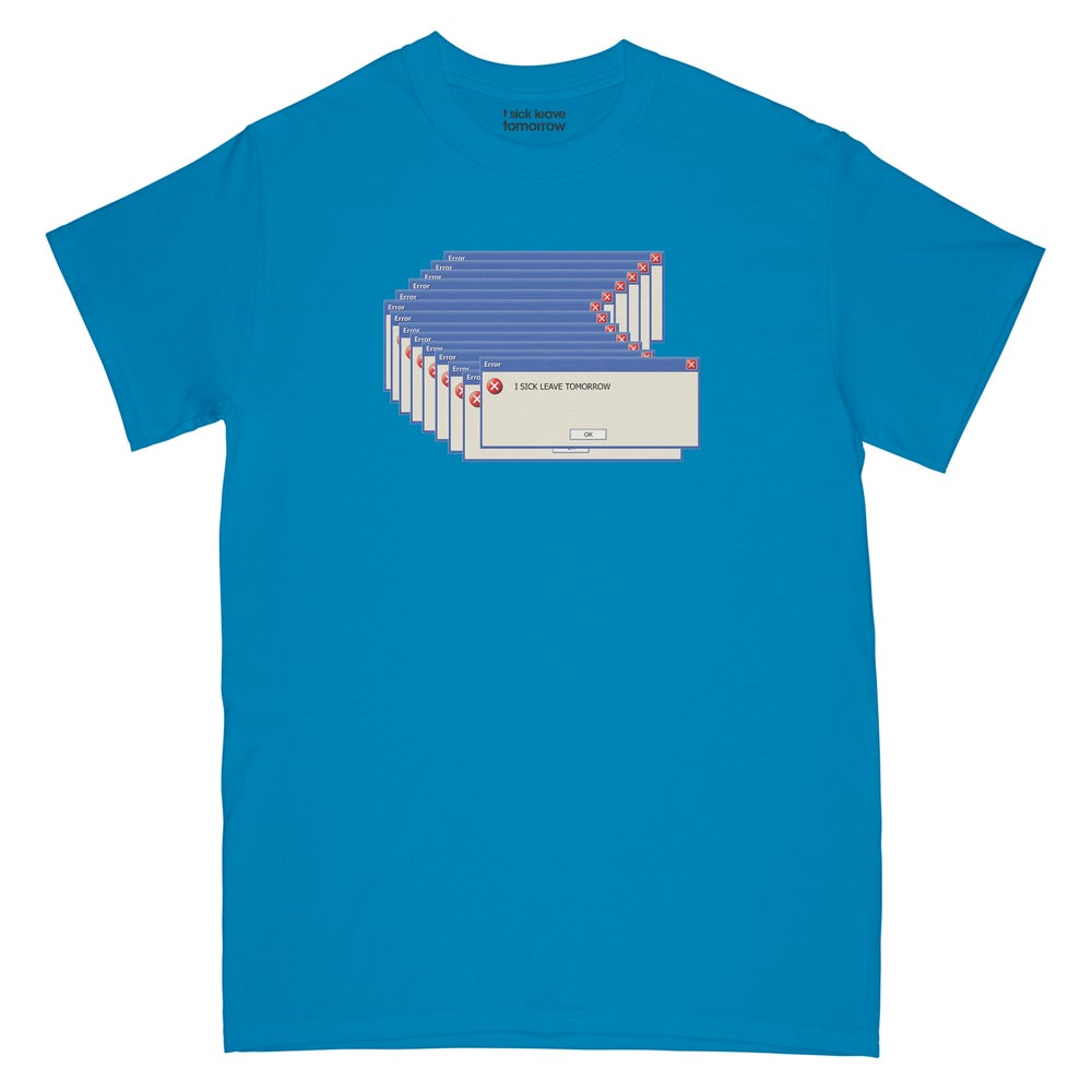 Image of ISLT ERROR TEE (BLUE / BLACK / WHITE 3 COLOURS)