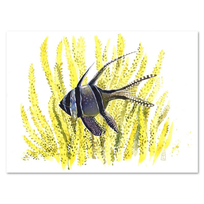 "Image of Original Painting - ""Mangrove enchantée"" - 28x37,5 cm"