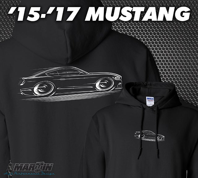 Image of '15-'17 Mustang T-Shirt Hoodies Banners