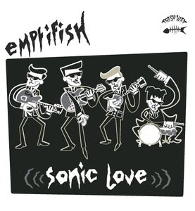 Image of LP. Emptifish  : Sonic Love.   Ltd Edition Trash Wax release, coloured vinyl.