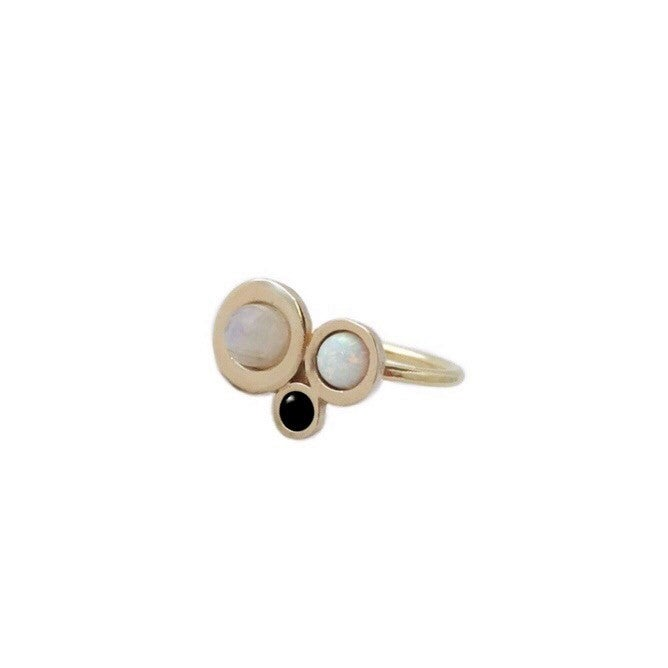 Image of Nebula Ring with Rainbow Moonstone