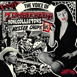 Image of LP : Messer Chups/Bonecollectors : Voice Of Zombierella.   Ltd edition re-issue.