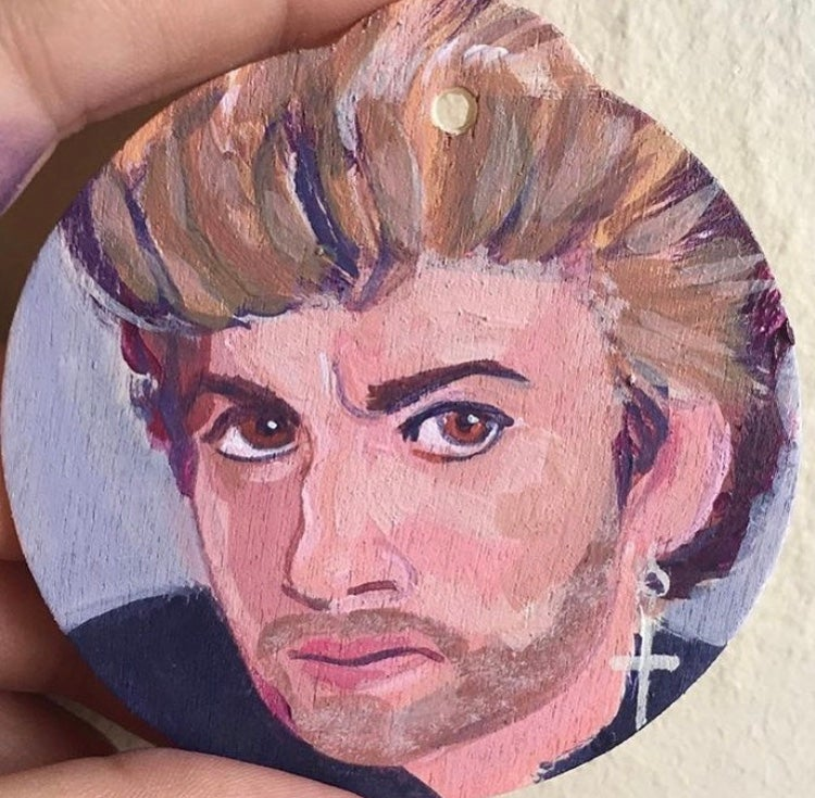 Image of George Michael ornament