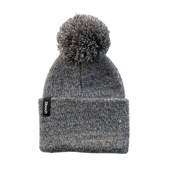 Image of Heather Gray Knit Cuff Beanie w/ Pom