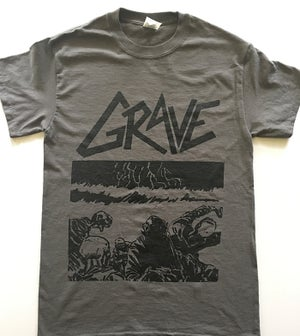 "Image of Grave "" Sick Disgust Eternal "" Gray T shirt"