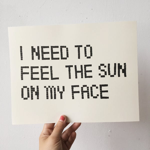 Image of 'Feel the sun' Print