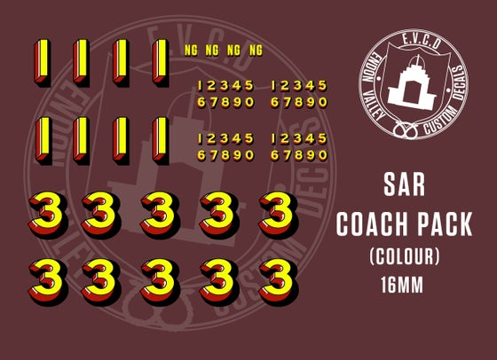 Image of SAR COACH DECAL PACK 16mm