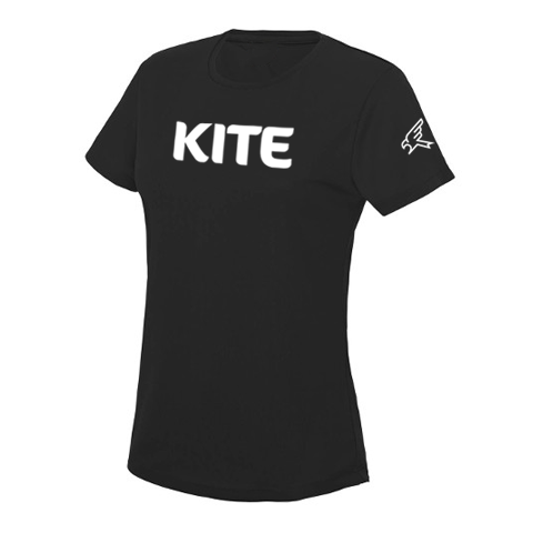 Image of Black Womens Logotype T-shirt