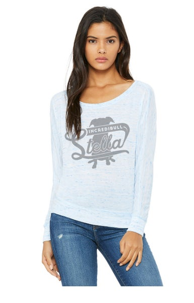 Image of WOMEN'S FLOWY LONG SLEEVE OFF SHOULDER TEE
