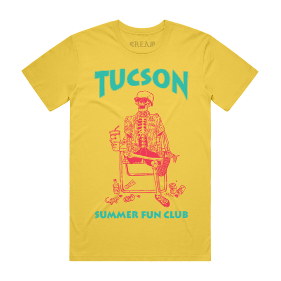 "Image of ""RETRO TSFC '18"" - Yellow Unisex Tee"