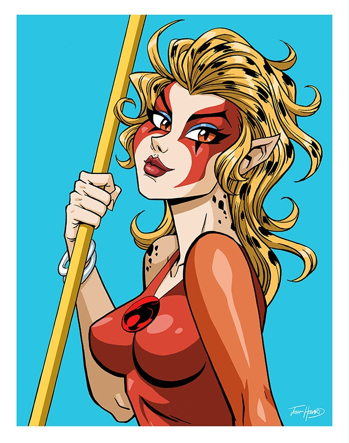 Image of THUNDERCATS CHEETARA Print