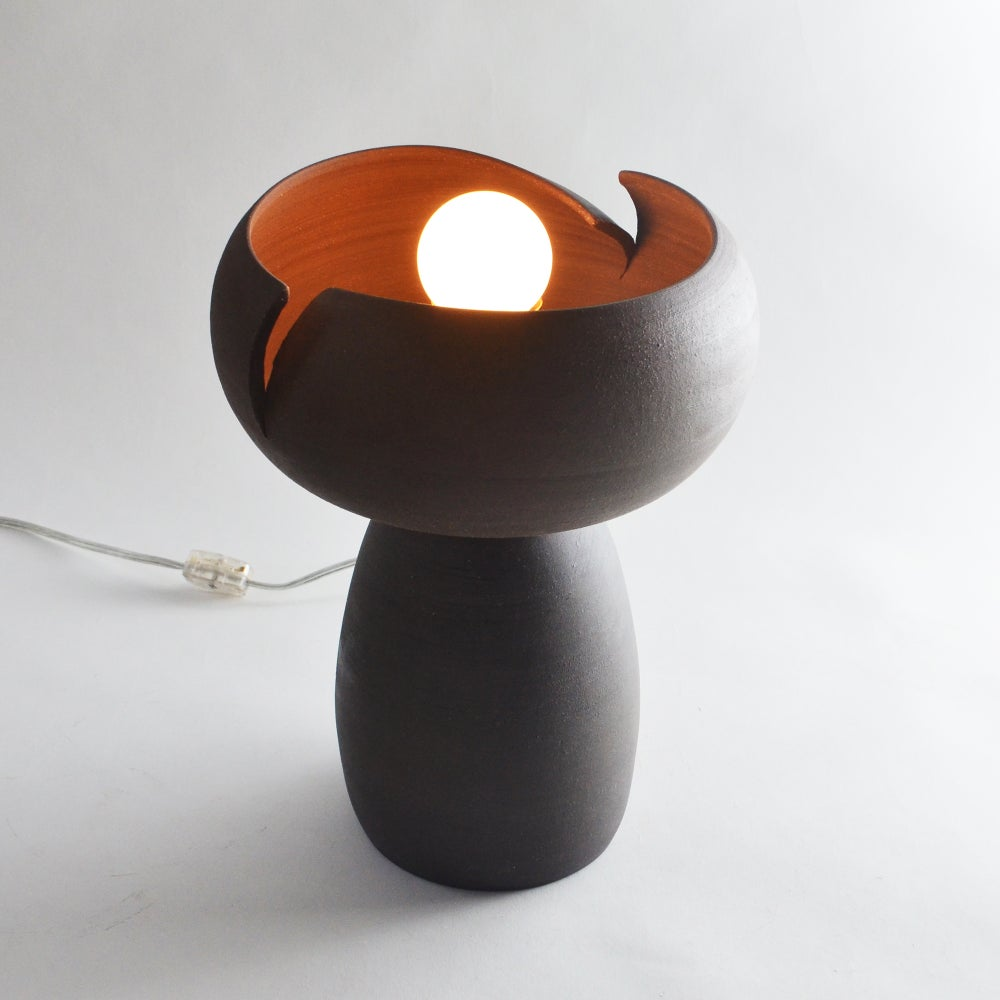 Image of Split Accent Lamp - Dark Stoneware