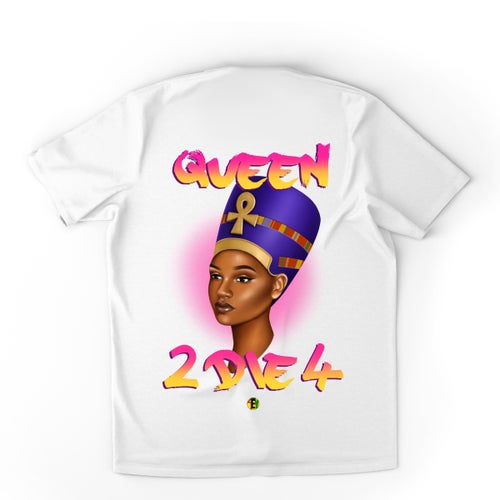Image of QUEEN  [BEAUTY IS POWER] FRONT/BACK [QUEEN 2 DIE 4] (White)