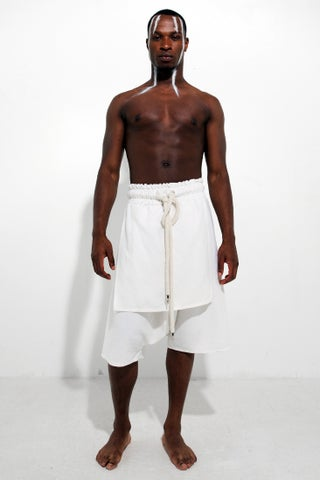 LINEN SAMURAI SHORTS CREAM