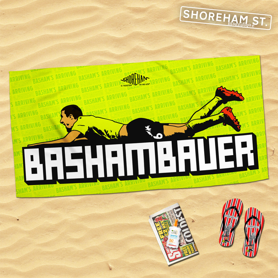 Image of Basham's Arriving - Beach Towel