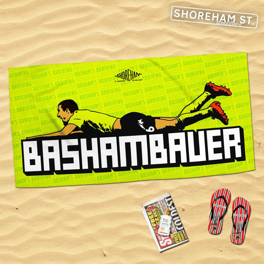 Image of Basham's Arriving - Beach Towel