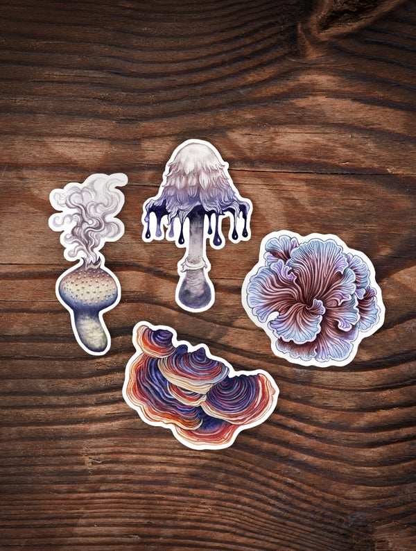 Image of Peculiar Shroom Sticker Set 1
