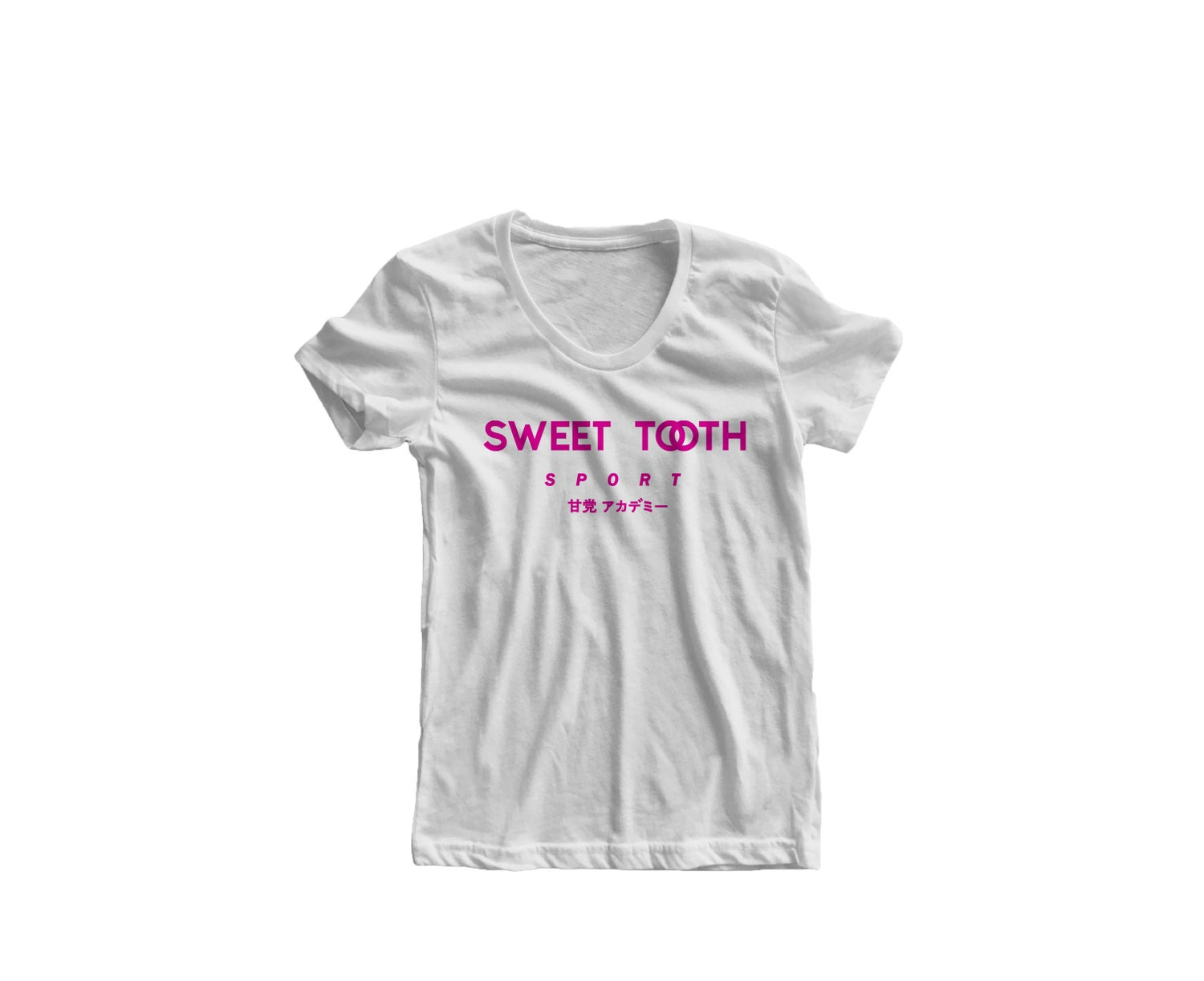 Image of Sweet Tooth Sport Tee White & Pink (Womens)