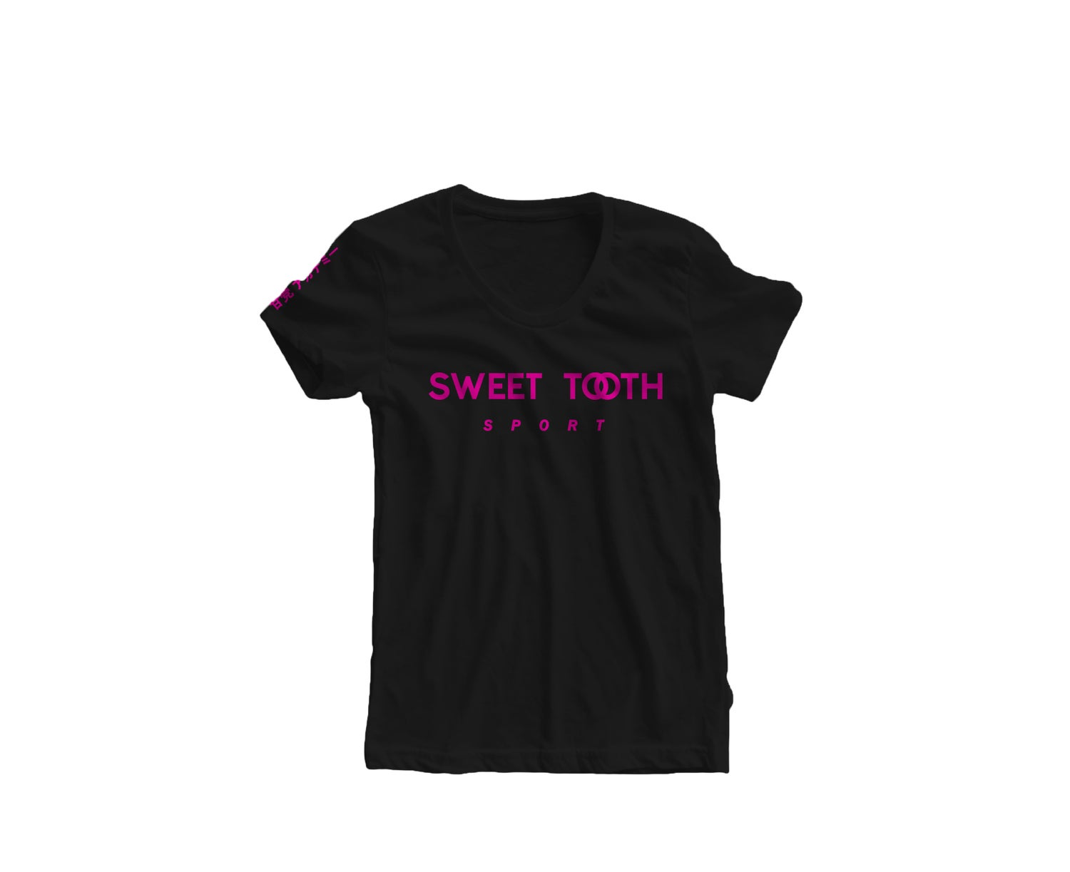 Image of Sweet Tooth Sport Tee Black & Pink (Womens)