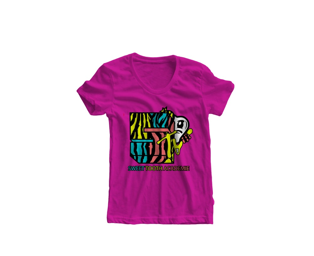 Image of STA MTV Tee Pink (Womens)