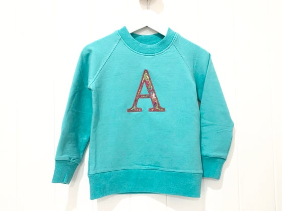 Image of Liberty Monogram Crew Neck - Tiffany Colour