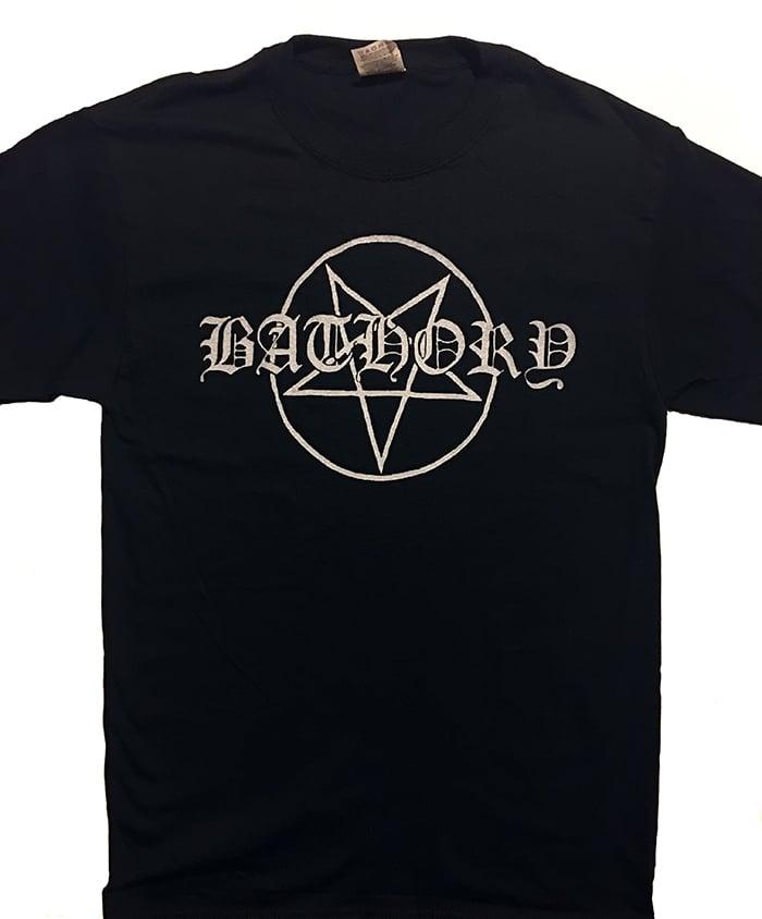 "Image of Bathory "" Pentagram Logo""  Men's T shirt"