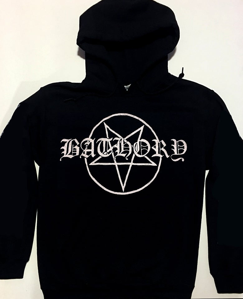 "Image of Bathory "" Pentagram ""  Hoodie"