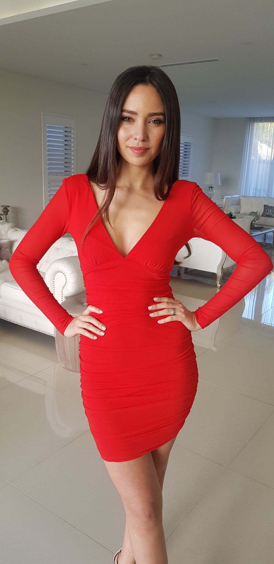 Image of EVIE DRESS RED