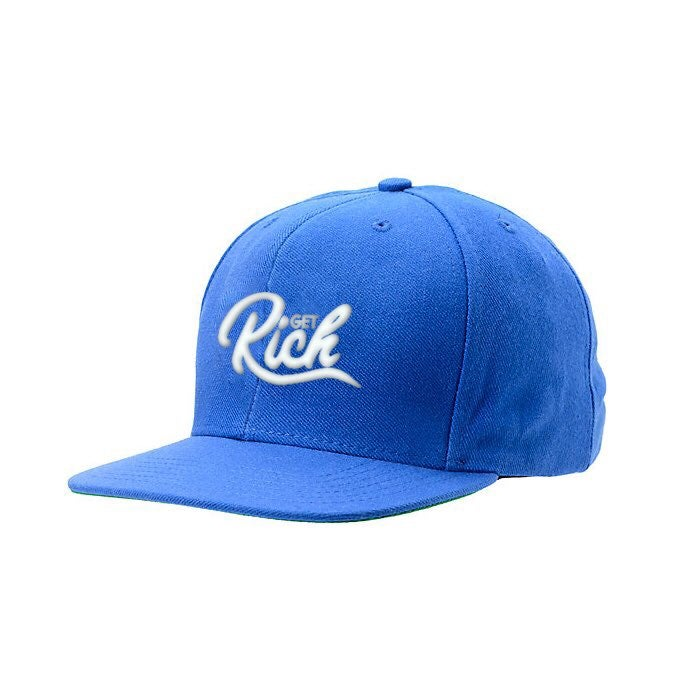 Image of Get Rich Snapback - Royal Blue / White