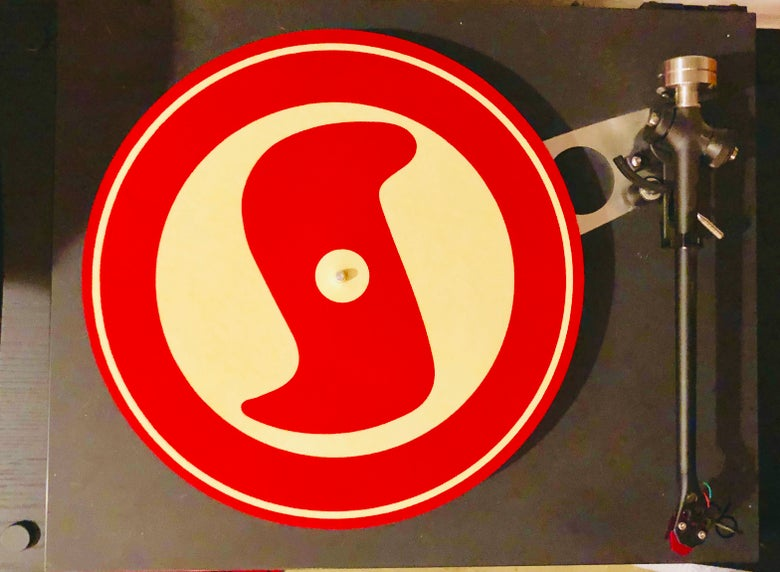 Image of Super Secret Records Logo Turntable Slipmat