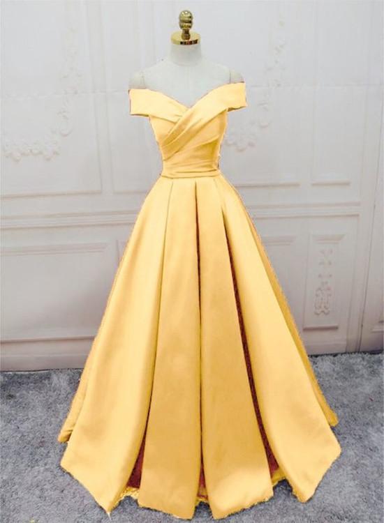 Beautiful Long Handmade Party Dress 2019, Off the Shoulder Formal Dress