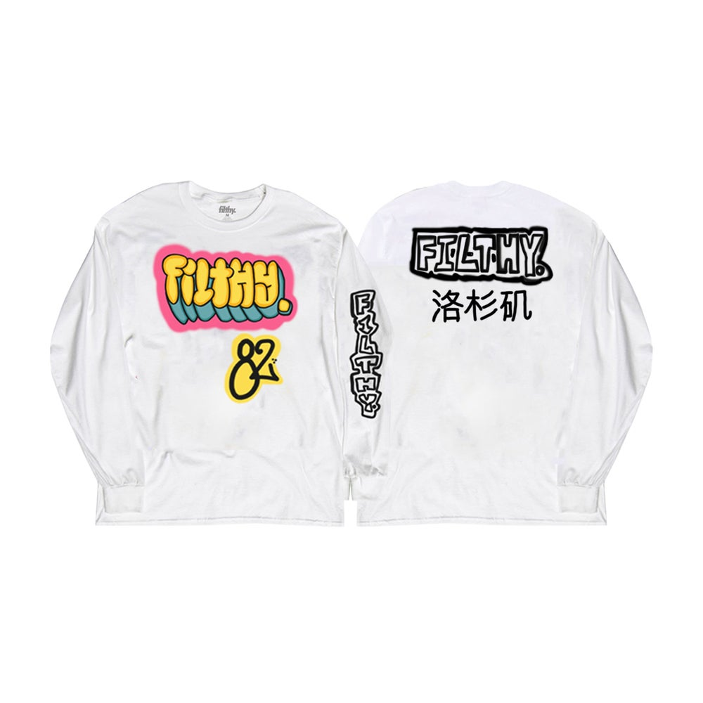 Image of filthy. Rico White Long Sleeve