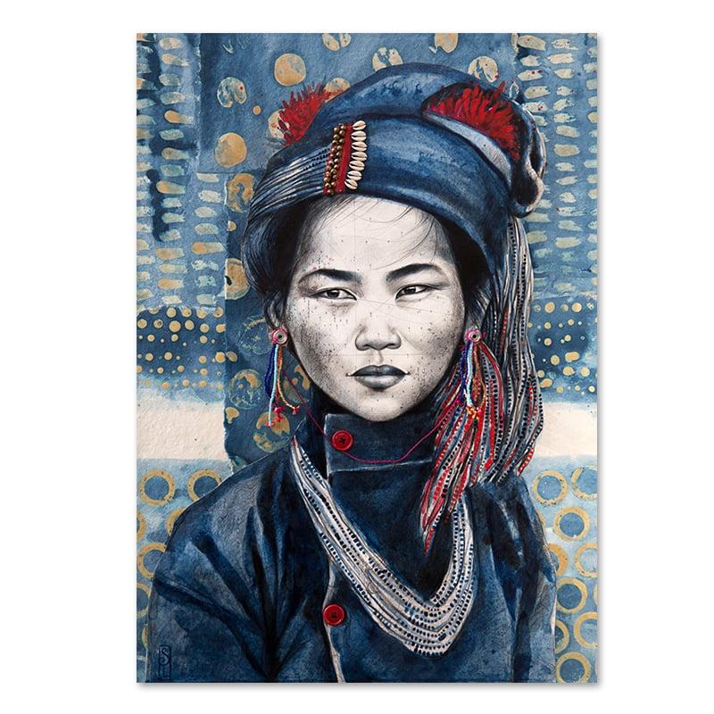 """Image of Paper Art Print - """"Chez les Ann 3"""""""