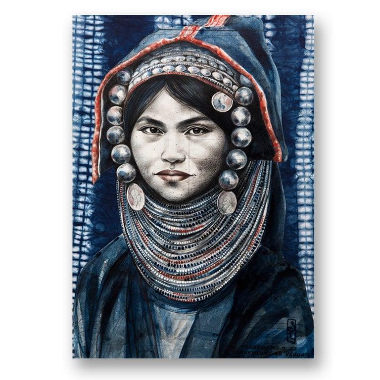 """Image of Paper Art Print - """"La coiffe d'argent"""""""
