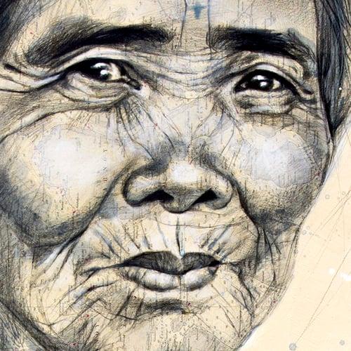 "Image of Paper Art Print - ""Whang Od"""