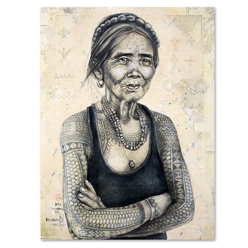 """Image of Canva Art Print - """"Whang Od"""""""