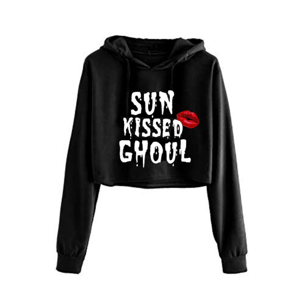 Image of Sun Kissed Ghoul Cropped Hoodie