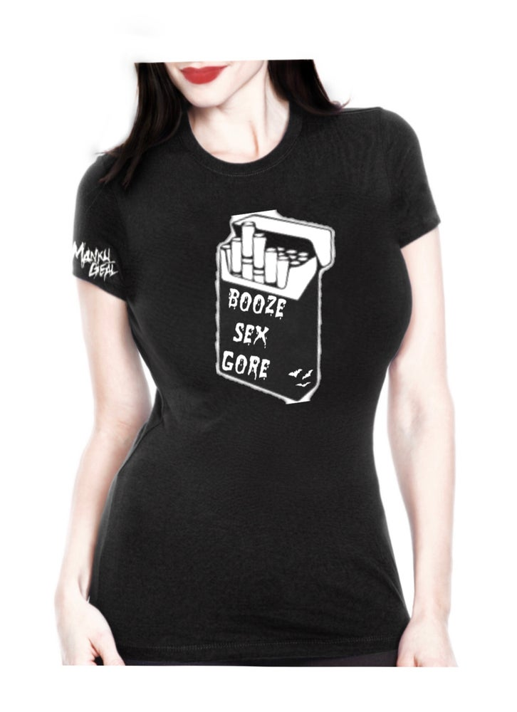 Image of Booze Sex Gore Women's Tee