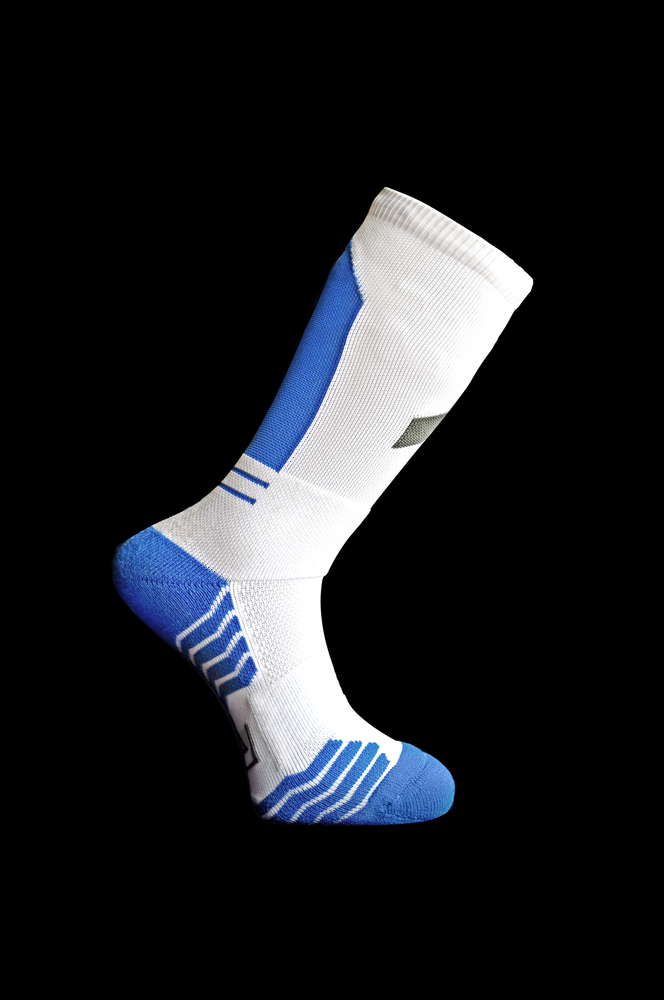 "Image of R.A Double Up ""Obelisk"" Socks Blue"