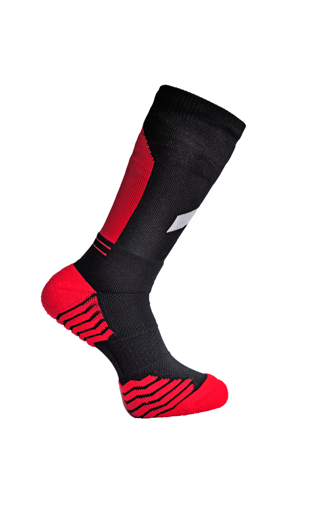 "Image of R.A Double Up ""Obelisk"" Socks Red"
