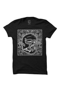 Image of HAOMING Paisley Mask T-Shirt (Black)