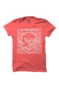 Image of HAOMING Paisley Mask T-Shirt (Red)