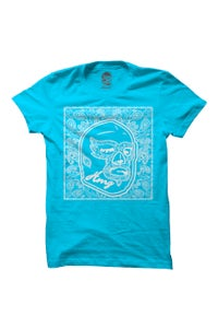 Image of HAOMING Paisley Mask T-Shirt (Blue)