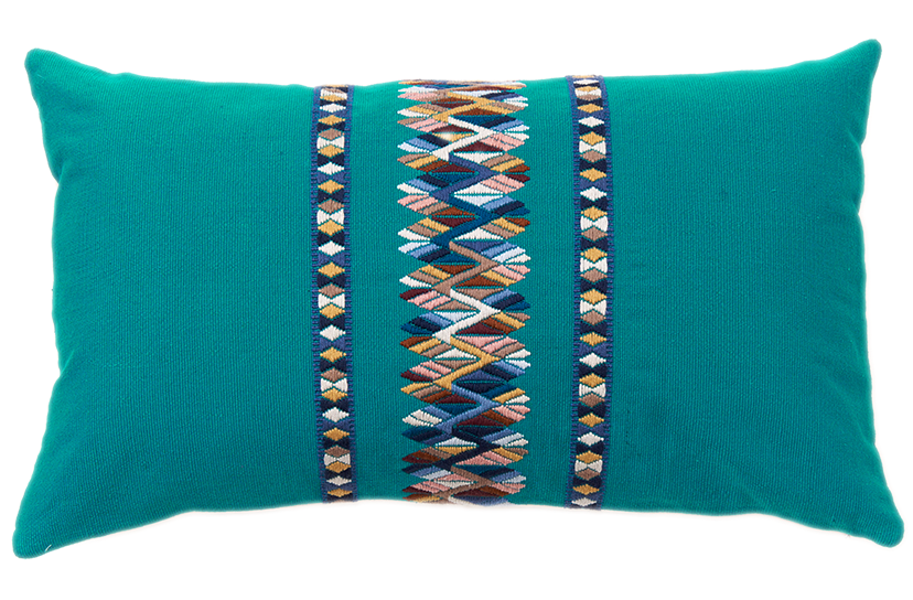 Image of Brocado Central Turquoise
